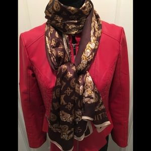 Authentic Louis Vuitton monogram 100% silk scarf